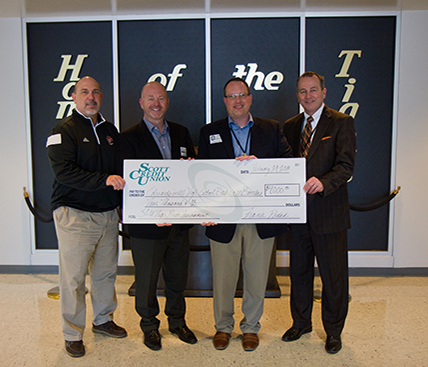 Check presentation at Edwardsville High School