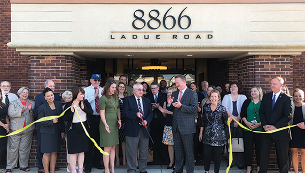 Ribbon cutting at our Ladue Branch, our first Missouri Branch