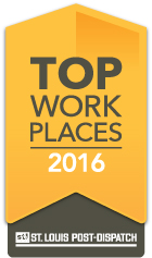 Proud to be named a St. Louis Post Dispatch Top Workplace for 5 consecutive years!