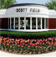 Image of the old entrance to Scott Air Force Base, formerly known as Scott Field